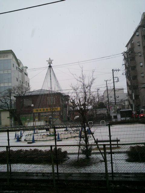今シーズン初雪景色